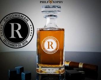 Whiskey Decanter, Personalized Whiskey Decanter, Groomsmen Gift, Wedding Gift, Christmas Gift, Gift For Him, Men's Gift, Best Man
