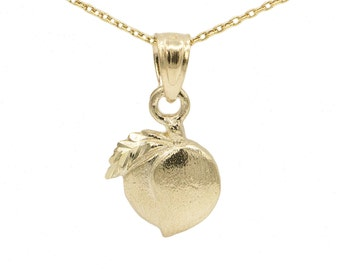10k Yellow Gold Peach Necklace