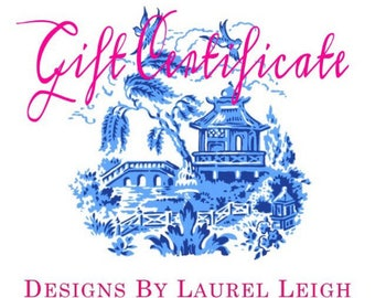 Gift Certificate | Designs by Laurel Leigh Purchase