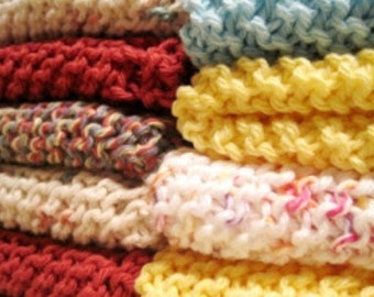 Knitted Dishcloths Dish Rags set of 8