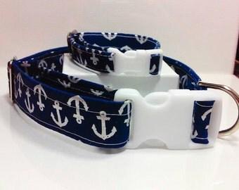 Navy Blue Anchor Friendship Collar