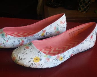 Paper flowers flats, Size 7