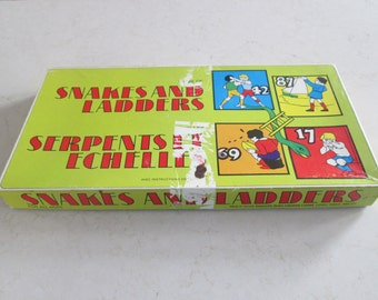 Vintage Snakes and Ladders Game