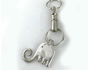 Silverplate Elephant Keychain