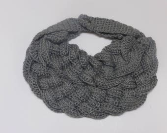 Fashionable crocheted braided scarf necklace.  Free domestic USPS priority shipping!!