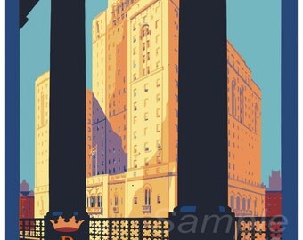 Vintage Royal York Hotel Canada Travel Poster Print