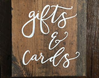 Gifts & Cards Wedding Sign