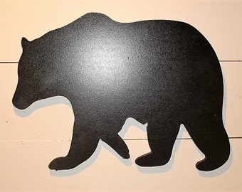 Black Bear Wall Hanging, Black Bear Silhouette, Cabin Decor, Rustic Decor