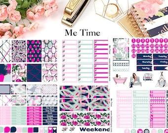 Me Time//6 Sheet Weekly Kit//Erin Condren//Happy Planner