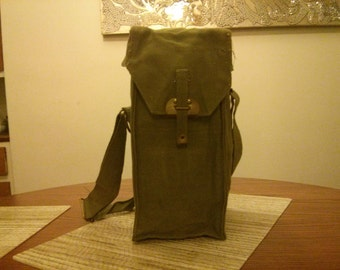 Canvas military surplus bag