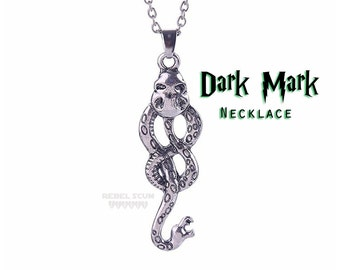 Harry Potter Dark Mark Necklace Death Eater Necklace