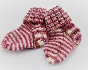 Newborn socks, Winter socks, Handmade socks, Newborn baby socks, Baby socks