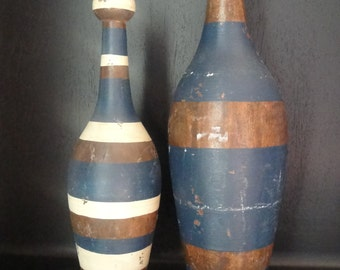 Vintage medium wooden bowling pin
