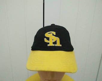 Rare Vintage SOFTBANK HAWKS FUKUOKA Trucker Cap Hat Free size fit all