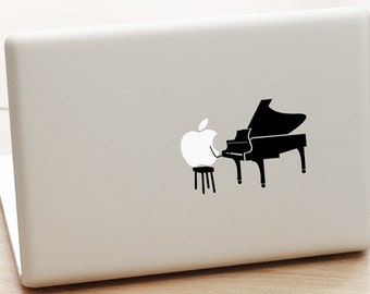 macbook pro piano decal, piano instrument decal, piano decal, piano sticker, musical instrument sticker, laptop sticker, piano lover gift