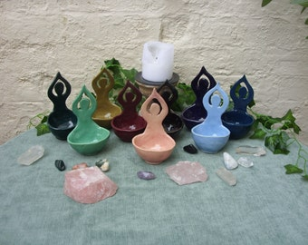 Handcrafted Ceramic Moon Goddess Bowl