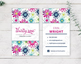 Thirty One Business Card - Loopsy Daisy (template)
