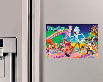 Rick and Morty chase Fridge Magnet
