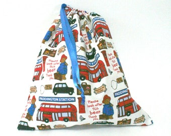 Paddington Bear Goes on a Trip Drawstring Bag