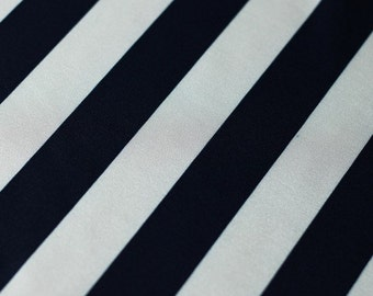black white striped polyester spandex lycra fabric high quality 4way stretch 1 inch tricot