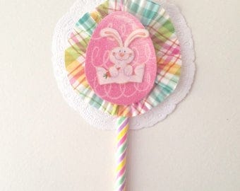 Bunny paper wand