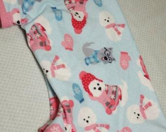 Dog pajamas, pjs, jammies, warm dog clothes, XL dog clothes, flannel dog pajamas, dog clothes, winter dog clothes - size S to XXL