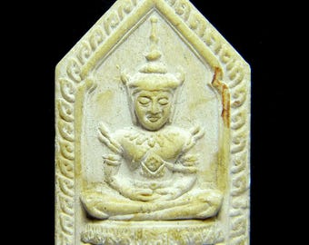 Emerald Buddha Thai Buddhist Amulet Vintage Collectible Buddha, Phra Kaew Temple  # 11809
