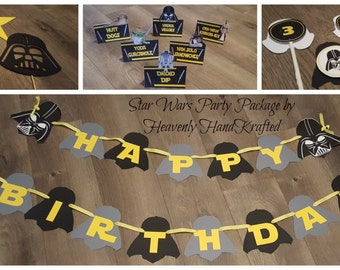 Star Wars Party Package, Star Wars Birthday Package, Star Wars Birthday, Star Wars Celebration, Darth Vader Birthday Package, Darth Vader