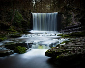 North Wales Waterfall Photography Print (Wall Decor - Various Sizes Available!)