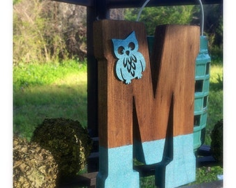 Monogram Dipped Wooden Letters