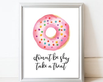 Dessert Table Sign - Donut Baby Shower - Donut Party - Donut Bar Sign - Printable Sign - Donut Decor - Donut Sign - Digital Download 8x10