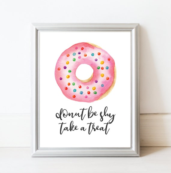Dessert Table Sign Donut Baby Shower Donut Party Donut