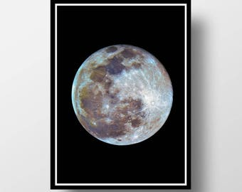 Moon Printable, Full Moon, Moon Poster, Space Print, Space Wall Art, Moon, Moon Print, Moon Wall Art, Moon Photography, Cosmos Wall Art