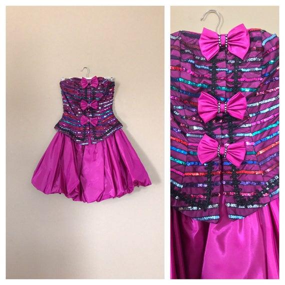 años 80 Vestido de baile / vestido de fiesta de los 80 /