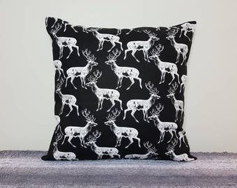"White Deer pillow cover 18"", deer cushion, deer pillow, stag cushion, stag pillow, scatter cushion, pillows, throw pillows, soft furnishings"