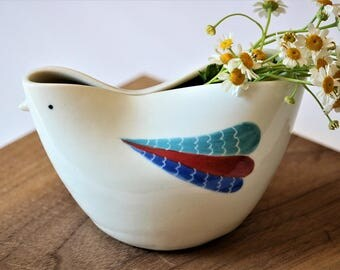 Bud Vase, Handmade Bud Vase, Bird Vase, Porcelain Bud Vase, Pottery  Vase, Small Vase,  Handmade Ceramic  Vase