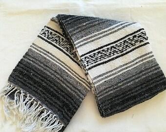 Mexican Throw Blanket -  Aztec Design