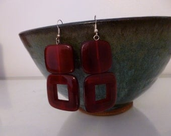 African Style Square Dangle Earrings