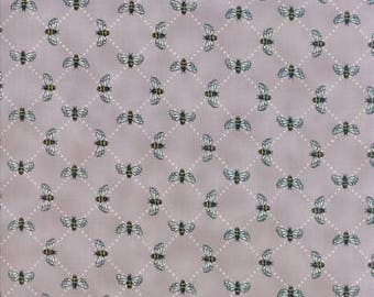 Bee Inspired Pebble Grey Bees 19796 15 Moda Fabrics By Deb Strain 100% Cotton Quilting Fabric