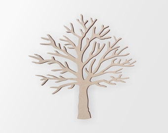 Wooden Tree Shape - Cutout, Home Decor, Unfinished and Available from 3 to 42 Inches Tall