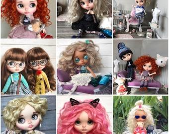 work examples-OOAK custom blythe dolls by Darya Javnerik