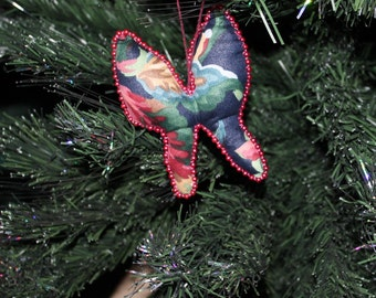Red And Navy Butterfly