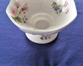 Crown Staffordshire Fine Bone China Pedestal Dish