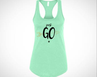 Just Go Teal Tank
