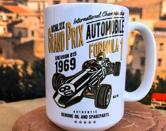 Formula 1 Grand Prix 1969.  11oz or 15oz Coffee Mug.