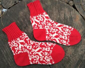 Kids socks cashmere wool socks baby socks handmade toddler socks children socks cat socks red socks cool socks fine art socks fuzzy socks
