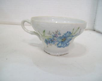 Inarco Porcelain Teacup, Blue Floral, E-4771 Made in Japan, FREE SHIPPING G4