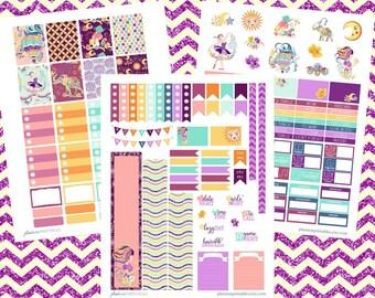 Pure Imagination, Printable Planner Sticker Kit, ECLP, Erin Condren Life Planner, Vertical Weekly Kit, Ballerina, Elephant, Purple Stickers