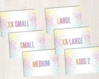 Size Cards / Home Office Approved / 5x7 Size Display Cards / Instant Download