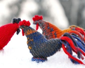Rooster toy - Symbol of the year 2017 - Rooster toy - souvenir New Year - Rooster knitted ornament – amigurumi